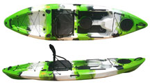 Forest Camo Titan 2 Kayak, top and side view