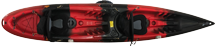 Black cherry Torpedo Kayak top view
