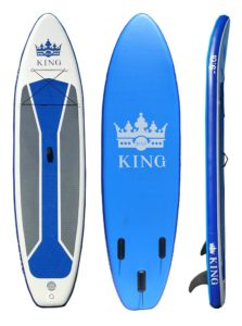 Inflatable SUP board, top/bottom/side view